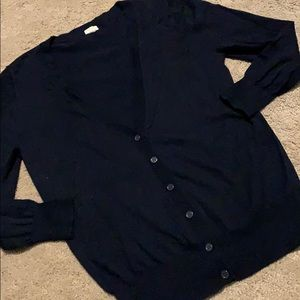 Navy button sweater j.crew small